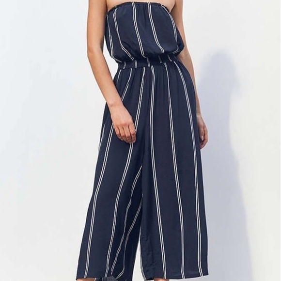 silence + noise Other - Silence + Noise Urban Outfitters Striped Jumpsuit